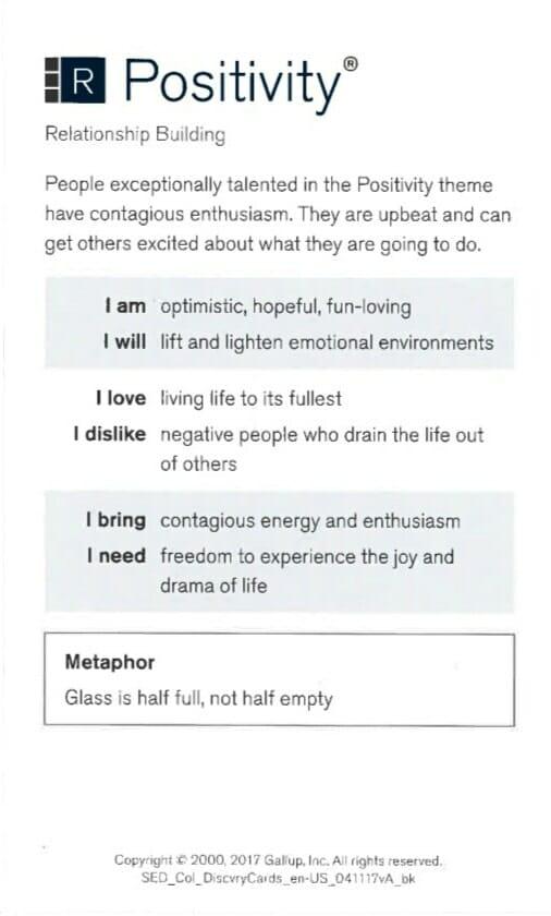 Postivity Strength